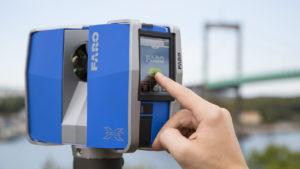 écran digital laser scanner Faro