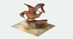 scultpture en bois numérisée