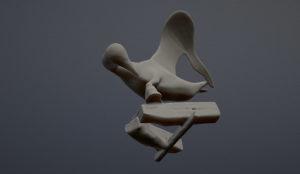 sculpture vu du dessous